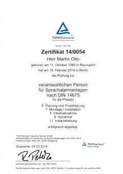 Fachkraft 14675 SAA 2