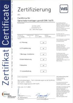 SAA Errichterfirma DIN 14675